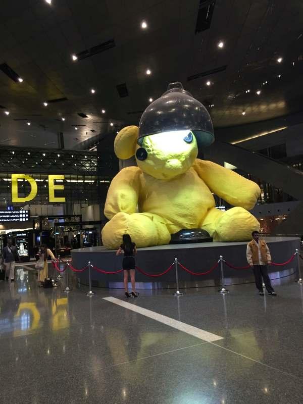 Teddy-Bär im Flughafen Doha Hamad International Airport