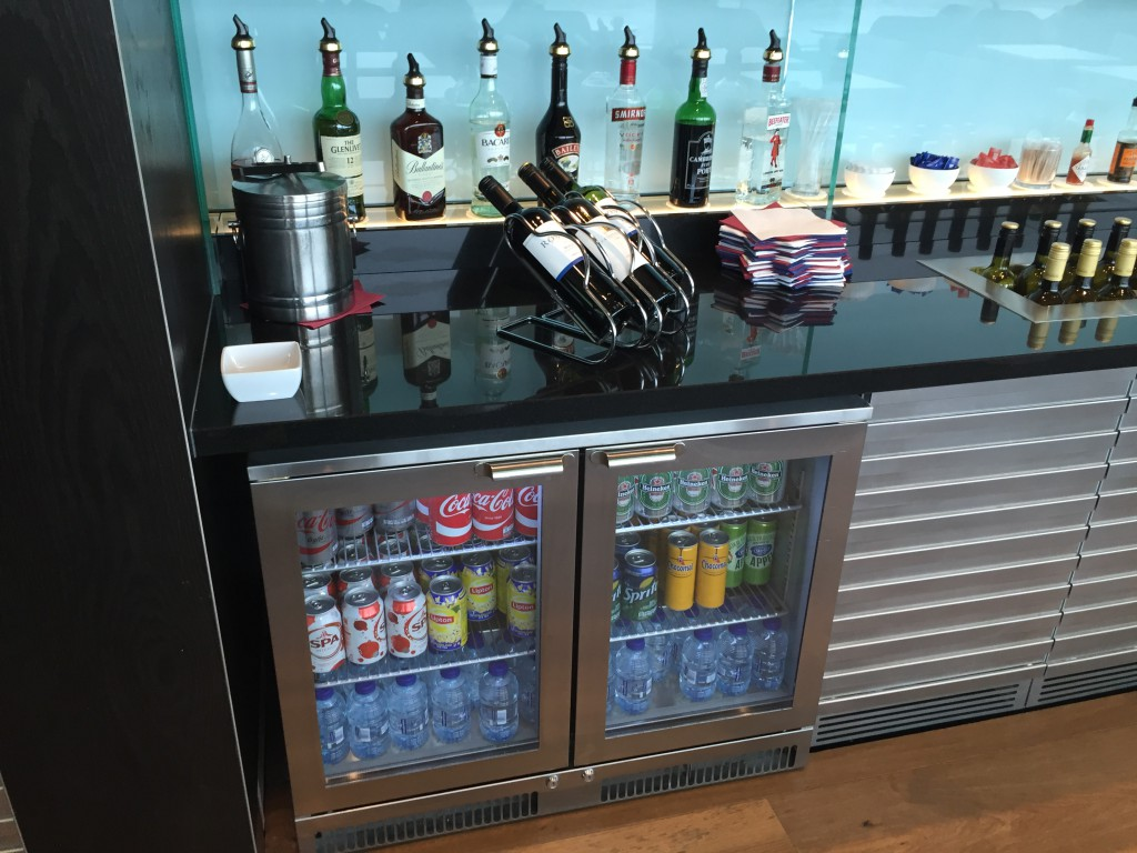 British Airways Lounge Getränke
