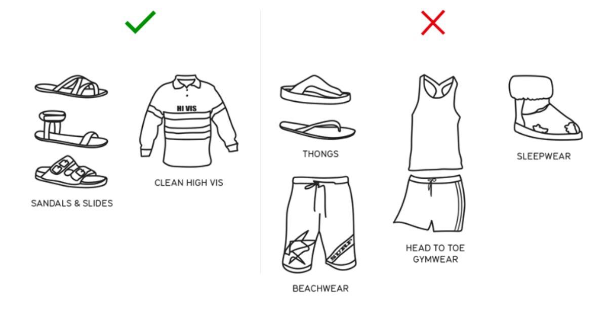 Dress Code in Qantas Club Lounges