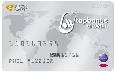 Airberlin Topbonus Silver Status 4 Monate lang kostenlos