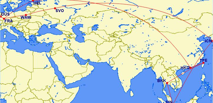 Elf Flüge, mehr als 17.000 Meilen – Der Thailand-Urlaub steht
