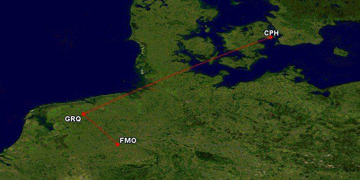 Das wird mein fast kürzester Flug aller Zeiten: 133 km von Münster nach Groningen